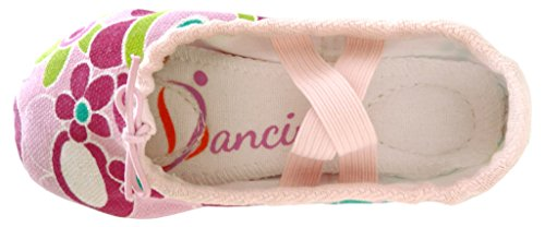 Aus Rosa Leinen Buntem Ledersohle bunt Ballettschuhe mit Dancina Geteilter Erste Kinder q74ptXwxHz