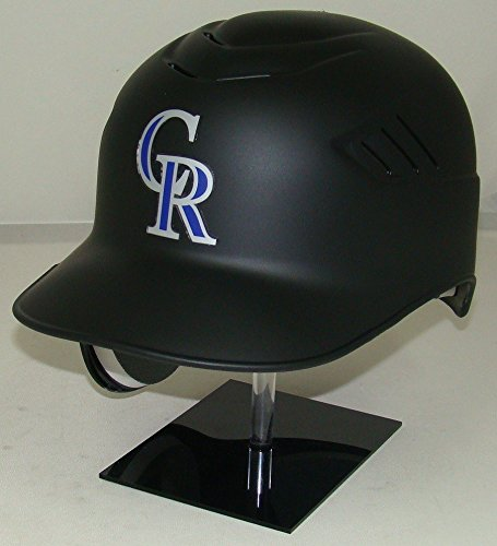Colorado Rockies Matte Black MLB New Coolflo Style Official Authentic Batting Helmet (for Left Handed ()