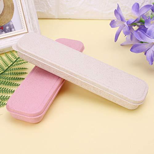 JUNESUN Portable Eco-Friendly Wheat Straw Cutlery Camping Picnic Box Dishware Kitchen Utensils Case Travel by JUNESUN (Image #1)