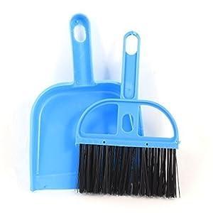 2 in 1 blau schwarz Plastik Handfeger Handbesen mit Kehrblech Kehrgarnitur...