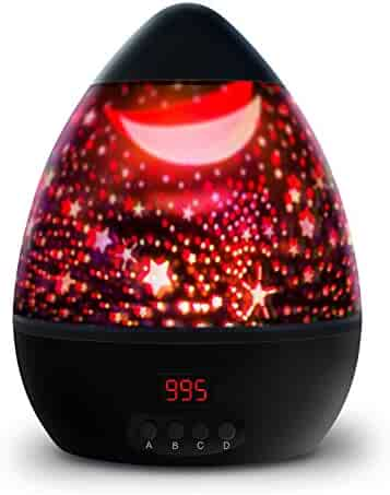 Newest Night Light,Multiple Colors Star Light Rotating Projector with Timer Auto Shut for Kids and Baby Bedroom,Best Night Lights for Kids to stimulate Imagination and Curiosity (Black)