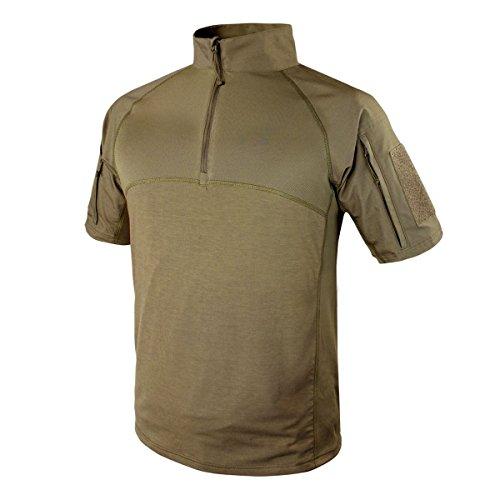 Condor Outdoor Tactical Short Sleeve Combat Shirt (X-Large, Tan) ()
