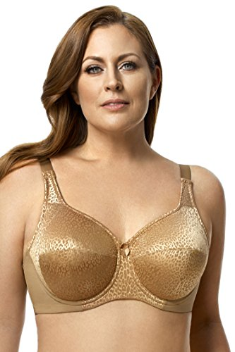Bra Leopard Lace (Elila Women's Plus Size Leopard-Print Underwire Bra &Copy; With Lace And Support)