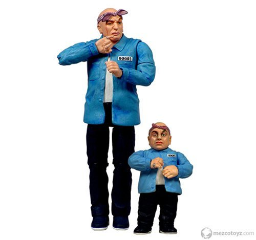 Austin Powers Prison Dr. Evil & Mini Me by Mezco -