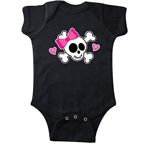 inktastic - Valentine Holiday Girls Skull Infant Creeper 6 Months Black 2875c