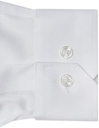 Husky Boys 100/% Cotton Non Iron White-On-White Serenity Button Cuff Dress Shirt Adonis Shirts Inc