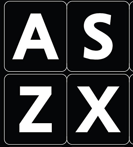 ENGLISH US LARGE LETTERS KEYBOARD STICKERS NON TRANSPARENT - Keyboard Stickers English