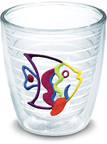 Tervis 1017689 Fish - Multicolor Tumbler with Emblem 12oz, Clear