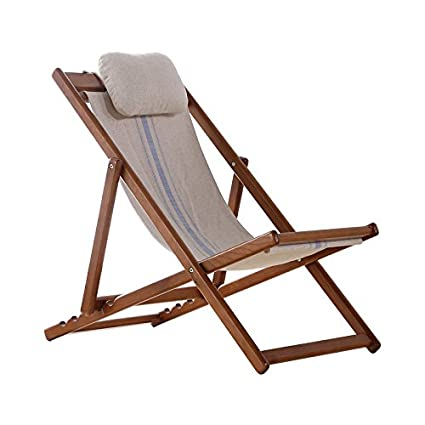 AJZXHEIdea Simple Full Chaise Longue de Madera Maciza ...