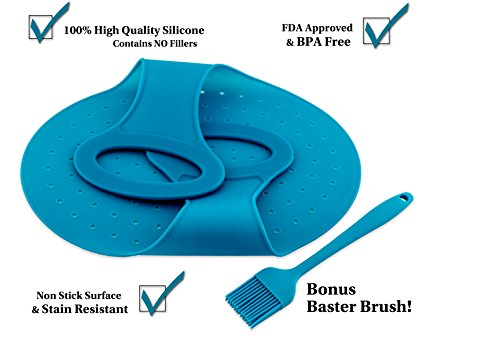 Blue Lifter and Bonus Baster Brush- Best Silicone Lifter for (Meat Lifter)