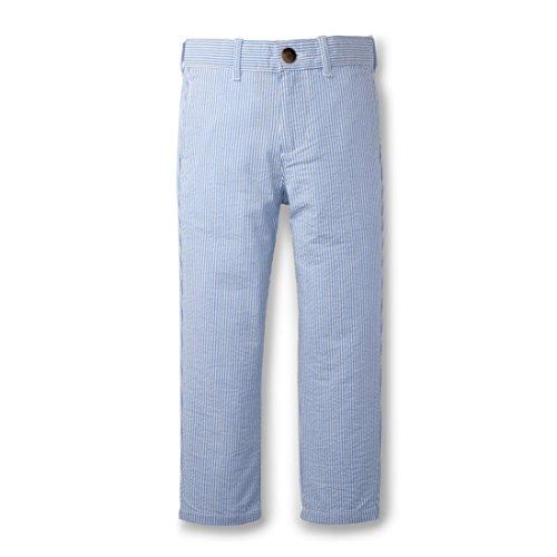 Cotton Seersucker Suit (Hope & Henry Boys Blue Seersucker Suit Pant Made With Organic Cotton)