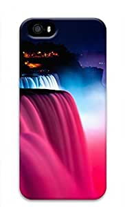 3D PC Case Cover for iPhone 5 Custom Hard Shell Skin for iPhone 5 With Nature Image- Magic Waterfall