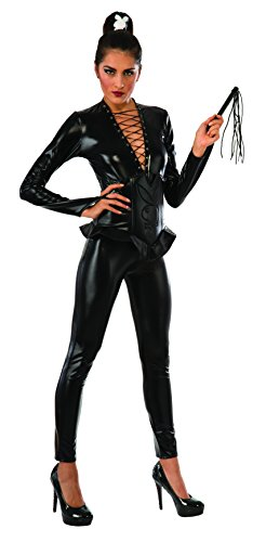Rubie's Costume Co Women's Playboy Wicked Ways Costume, Black, Small (Lame Catsuit)