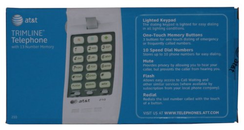 AT&T 210M Trimline Corded Phone