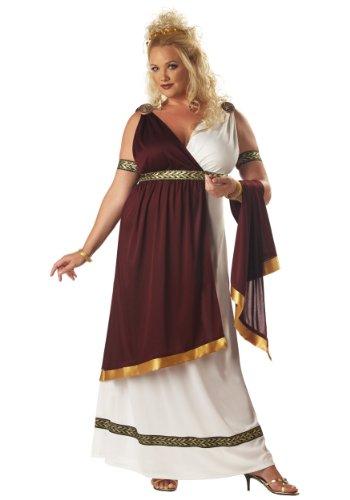 Roman Empress Plus Size Costumes (Plus Size Roman Empress Costume XXXL (18-20), White)