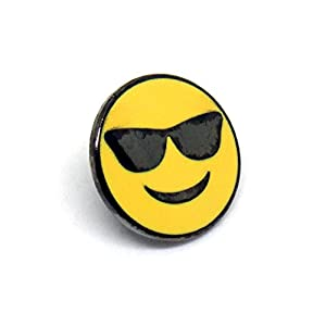 Cool Emoji - Mutual Best Friends Snapchat - Sunglasses Lapel Pin - PinMaze Collections Set