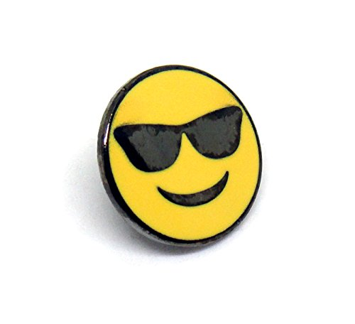Cool Emoji - Mutual Best Friends Snapchat - Sunglasses Lapel Pin - PinMaze Collections Set (2)