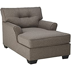 Ashley Furniture Signature Design - Tibbee Contemporary Chaise - Sleek Tailored Chair - Slate
