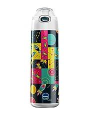 Tank Rocket Printed Water Bottle, 0.65 Liters - Multicolor