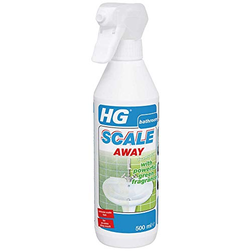 HG Scale Away Foam Spray with Powerful Green Fragrance 500 ml – Removes Limescale Quickly - Strong Green Fragrance