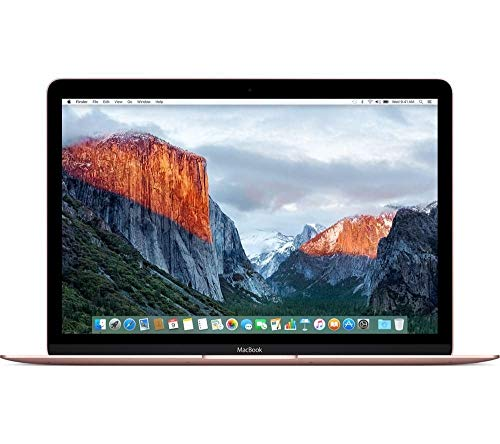 Apple MacBook (Early 2016) 12in Notebook - Intel Core M5-6Y54 1.2GHz Dual-Core, 8GB RAM, 512GB PCI-E SSD, Retina Display, Bluetooth, MacOS 11.4 El Capitan (Rose Gold) (Renewed)