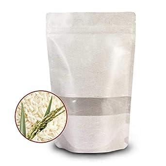 Bolsas de papel de arroz (100 unidades, 130 x 207 + 80 mm ...