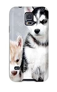 New Arrival Case Cover With YPJsjgv379xupky Design For Galaxy S5- Husky Snow Dogs