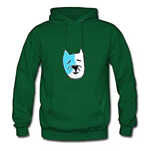 Light Blue Kitty Stewglov Hoodies Personalized Women Fashionable Green