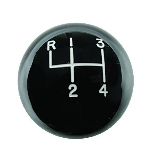 Hurst 1630103 Shift Knob - Black 4 Speed 3/8-16 Threads - Upper/left Reverse Pattern Manual Transmission Shift Knob Shift Knob - Black 4 Speed 3/8-16 Threads