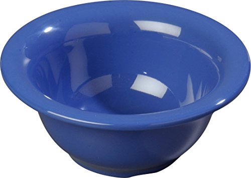 Carlisle 3303814 Sierrus Melamine Rimmed Nappie Bowls, 10-oz, Ocean Blue (Set of (10 Ounce Nappie Bowl)
