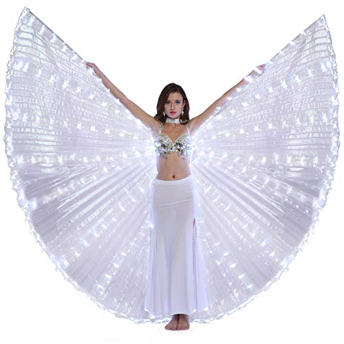 (Dance Fairy Belly Dance LED Angel Isis Wings Flexible Sticks)