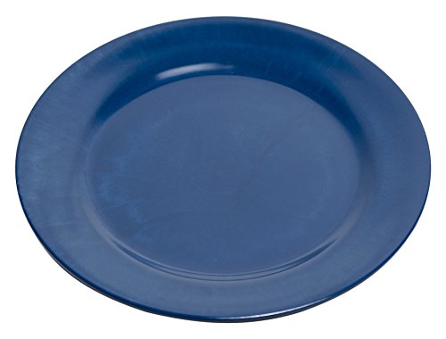 Galleyware Blue Melamine Non-Skid Dinner Plates, Set Of 4