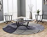Coffee Table Near Me Sunset Trading CR-72130-90 Sierra Coffee & End Table Set, Black