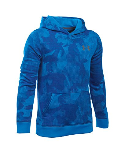 Under Armour Boys' Titan Fleece Printed Hoodie, Sailing Blue (992), Youth Small