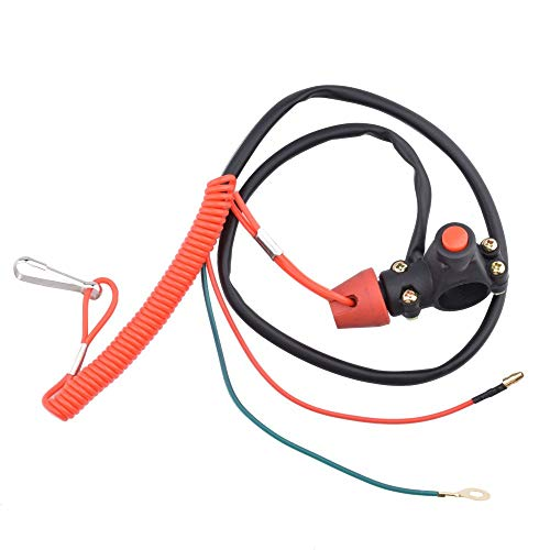 Amyli 2 Wire Kill Switch 22mm Handlebar Mount Tether Engine for Yamaha Honda ATV Quad Dirt Bike