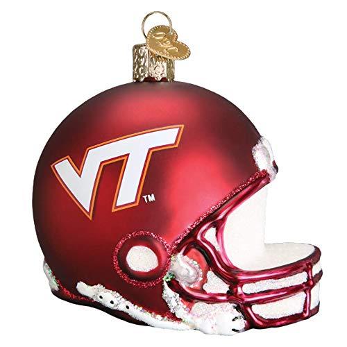 Old World Christmas Virginia Tech Football Helmet 64317 Ornament ()