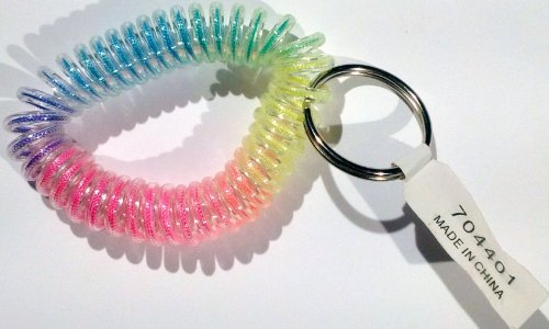 Wrist Stretch Coil Band Key Ring (Rainbow)