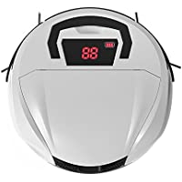 Robotic Vacuums for Pet Hair, Robotic Vacuum Cleaner with High Suction, Anti-Collision Sensor, 11 Level HEPA Double Filter System Tech for Pet Hair, Hard Floors to Low-Pile Carpets