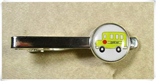 School Bus Tie Bar, School Bus Tie Tack, School Bus Tie Clip, Mens Gifts, Bus Driver Tie Tack,