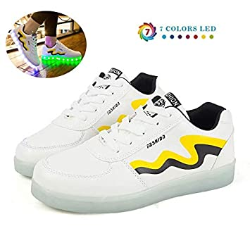 Farben zy Lade LED USB Schuhe Schuhe at Temptation dusk 7 8OwPnk0