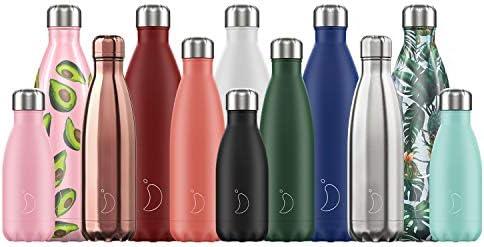 Botellas Chillys Nuevo logo 2019 | Estanqueidad, sin fugas | Acero inoxidable sin BPA | Botella de agua reutilizable | Doble pared al vacío | ...