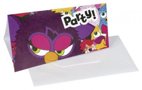 amscan Furby 6-Invites Invitatons and Envelopes