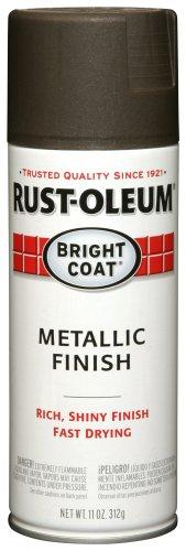 Rust-Oleum 7713830 Stops Rust Spray Paint, 11 Oz Aerosol, 10-12 Sq-Ft/Can, Each, Metallic Dark Bronze