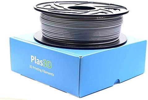 Plas3D PLA filamento de impresora 3D certificado Raise3D gris ...