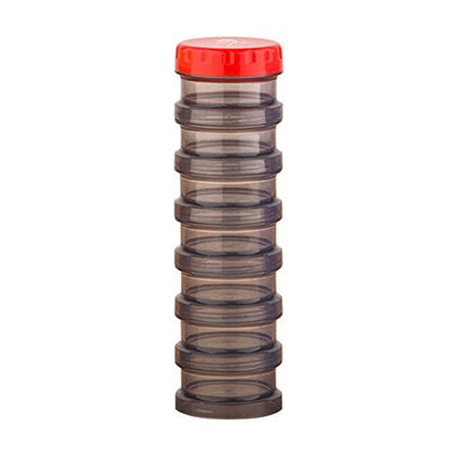 Stackable Pill Reminder (7-Day Pill Stackable Reminder Box Organizer Medicine Storage Container, Grey)