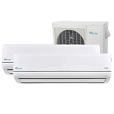Senville SENA-36MO-218 36000 BTU Dual Zone Split Air Conditioner and Heat Pump, Mini