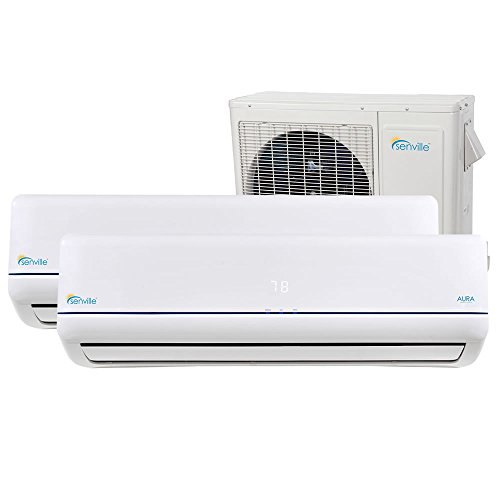 Senville SENA-30MO-212 27000 BTU Dual Zone Split Air Conditioner and Heat Pump, Mini by Senville