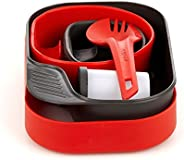 Wildo Camp-a-Box Dishes Complete red/Black Dishes