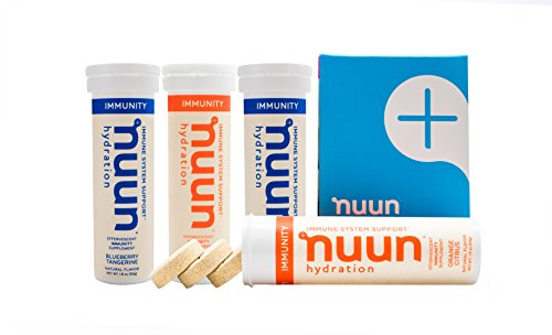 Nuun Immunity: Zinc, Turmeric, Elderberry, Ginger, Echinacea, and Electrolytes for an Anti-Inflammatory and Antioxidant Boost in Immune Support, Blueberry Tangerine/Orange Citrus Mixed 4-Pack
