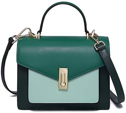 ZYstyle Ladies Messenger Bag, Small Bag, Leather Phone Wallet, Shoulder Bag, Fashion Ladies Wristband Handbag (Size: 21x9x15cm) (Color : Green, Size : 21x9x15cm)